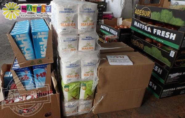 Élelmiszer adományozást támogattunk