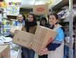 Élelmiszercsomagok összeállításában segédkeztünk